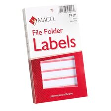 "<strong>Maco Tag & Label</strong> File Folder Labels, 9/16""x3-7/16"", Coral"