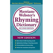 Merriam Webster Rhyming Dictionary