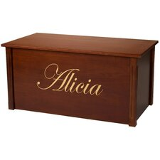 Dark Cherry Toy Box With Edwardian Font