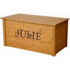 Bamboo Toy Box With Thematic Font