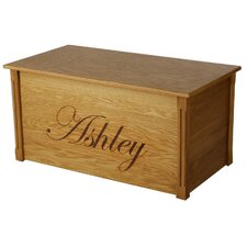 Oak Toy Box With Edwardian Lettering