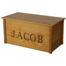 Oak Toy Box With Thematic Letters