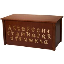 Dark Cherry Toy Box With Full Alphabet
