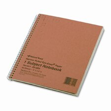Subject Wirebound Notebook, 80 Sheets/Pad