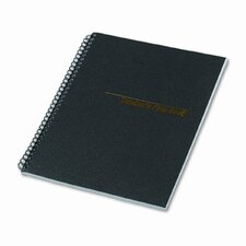 Teacher's Plan Book, 40-Week, 11 x 8-1/2, 56 Sheets, Black Cover