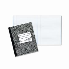 Composition Book, Wide/Margin Rule, 7-7/8 x 10, White, 80 Sheets/Pad