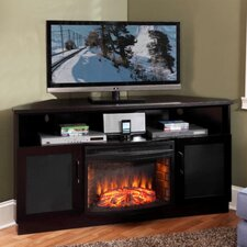 "<strong>Furnitech</strong> 61"" TV Stand with Curved Electric Fireplace"