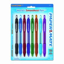 Profile Ballpoint Retractable Pen, 8 Pack