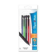 Mechanical Pencil, No-slip Grip, Refillable, 0.7mm, Assorted, 5-Pack