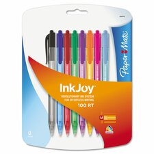 Inkjoy 100 Retractable Ballpoint Pen (8 Pack)