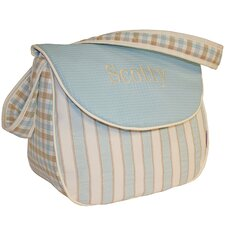 <strong>Hoohobbers</strong> Spa Blue Messenger Diaper Bag