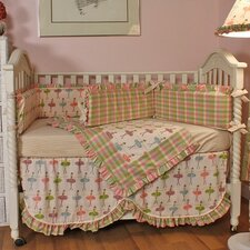 <strong>Hoohobbers</strong> Ballerina 4 Piece Crib Bedding Set
