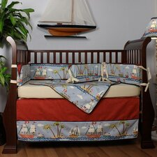 Ahoy 4 Piece Crib Bedding Set