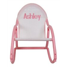 <strong>Hoohobbers</strong> Personalized Rocking Chair in Pastel Mesh