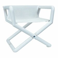 Personalized Junior Director Chair in White Mesh
