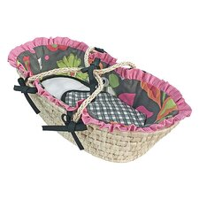 <strong>Hoohobbers</strong> Sleek Slate Moses Doll Basket