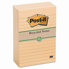 Greener Recycled Note Pad, 4 X 6, Lined, 12 Pack