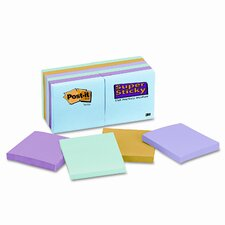 Super Sticky Note Pad, 3x 3, 12 90-Sheet Pads/Pack