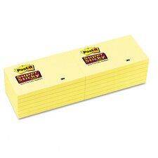 Super Sticky Note Pad, 12 Pack