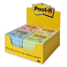 "Post-it Notes, 3""x3"", PDper Pack, Assorted Pastel"