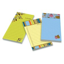 Super Sticky Assorted Printed Note Pad (Set of 3)