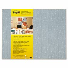 Frameless Display 1.5' x 1.92' Bulletin Board
