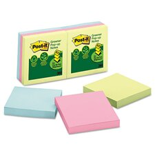 <strong>Post-it®</strong> Greener Notes Recycled Pop-Up Refill Pad (Set of 6)