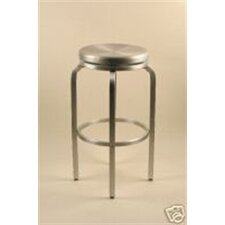 Paula Brushed Aluminum Swivel Bar Stool