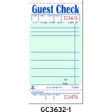 Guest Check Book