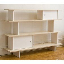 "H Mini-Library 42"" Bookcase in Natural Birch"