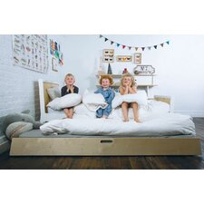 <strong>Oeuf</strong> Sparrow Trundle Bed in White
