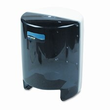 Classic Center Pull Towel Dispenser, 9-1/8w x 9-1/2d x 11-5/8h, Black Pearl/Whit