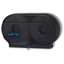 "Bath Tissue Dispenser, Jumbo, 19""x5-1/4""x12"", Black/Pearl"