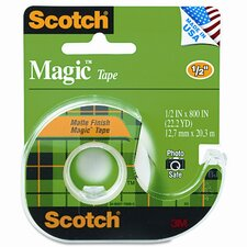 "Magic Tape with Refillable Dispenser, 1/2"" X 800"""