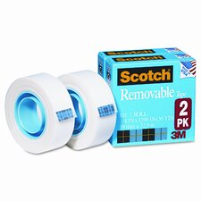 "Removable Tape 811-2PK, .75 x 1296, 1"" Core, 2 Rls"