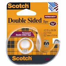 "665 Double-Sided Office Tape with Hand Dispenser, 1/2"" x 12-1/2 Yards"