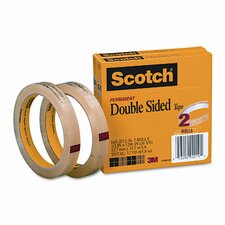 "665 Double-Sided Tape, .5 X 1296, 3"" core, transparent, 2 Rls"