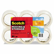 "1.88"" x 42.2 Yards Moving and Storage Tape (Pack of 6)"