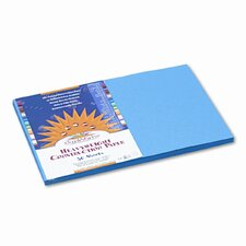 SunWorks Construction Paper, Heavyweight, 12 x 18, 50 Sheets, Blue