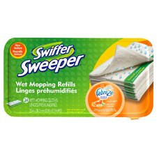 Citrus and Light Scent Sweeper Wet Mop Refill (Set of 24)