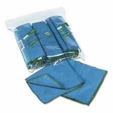 WYPALL Cloths w/Microban, Microfiber, 15-3/4 x 15-3/4, Blue, 6/pk