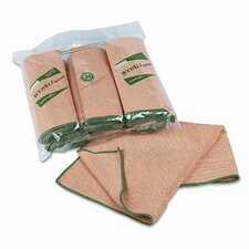 WYPALL Cloths w/Microban, Microfiber, 15-3/4 x 15-3/4, YW, 6/pack