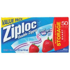 <strong>Ziploc®</strong> Double Zipper Food Bags in Clear