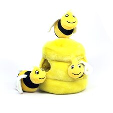 Plush Puppies Hide a Bee Dog Toy