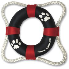 <strong>Paws Aboard</strong> Life Ring Dog Toy