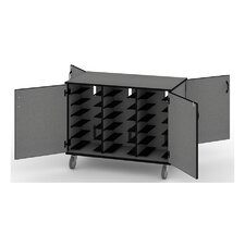 18-Compartment Solutions Laptop Charging Cart