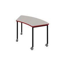Inspire Arc 2 Student Table with 2 Locking Casters and 2 Glides