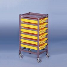 "Single Column Mobile 35.5"" Storage Cart"