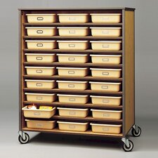 "<strong>Fleetwood</strong> 72"" H Double Sided Storage Cart with Optional Trays"