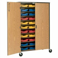 "72"" H Tote Storage Cabinet with Optional Trays"